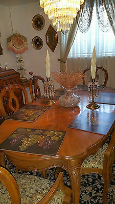 Antique  French Table and 6 Chairs
