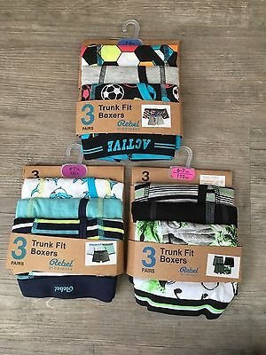 3 x Pairs Boys Primark Underwear Boxers Shorts Pants Trunks Briefs Age 2 - 15