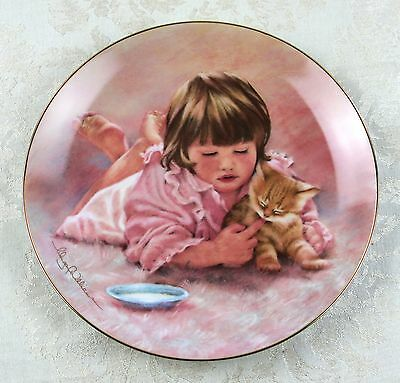 """""""Feeding Time"""" The Magic of Childhood Plate -Hamilton Collection -Abbie Williams"""