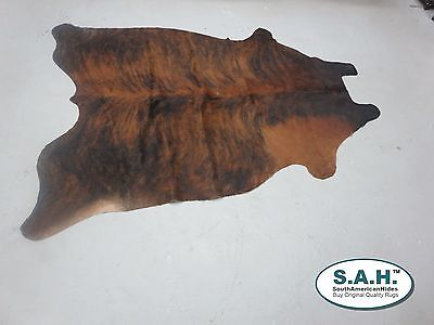 New Brazilian COWHIDE RUG  Brindle Leather Cow Hide Cow Skin Leather Carpet