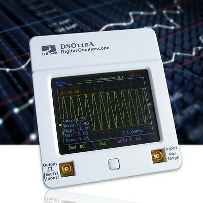 DSO112 LCD Touch Screen Portable 2MHz Oscilloscope With Battery + USB Cable HOT