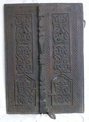 Antique Yemen Carved Wood Window Shutters