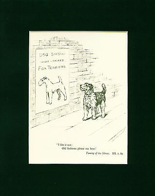 Dog Art Print 1934 Wire Fox Terrier looks at Dog Show Poster by KIRMSE Vintage