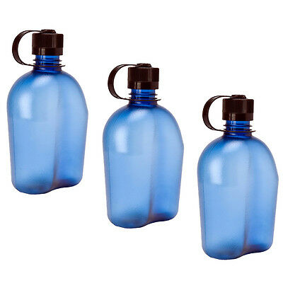 Nalgene Oasis 1qt Canteen Bottle Blue - 3 Pack