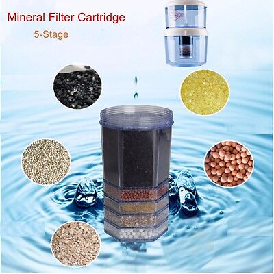 5/6 Stage Water Filter Cooler Purifier Top Carbon Mineral Replacement Cartridge
