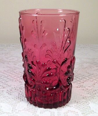 Pilgrim Glass Adams Cranberry 12 Ounce Flat Tumbler