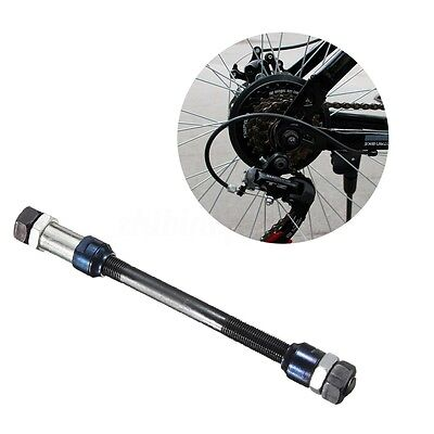 Bicycle Hub Axle Rear Solid Wheel Spindles 3/8'' x 175mm MTB Bike With Cones Nut