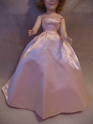 "Madame Alexander 20"" Doll Pink Satin Gown, Tagged, Fits Cissy, from Portrait"