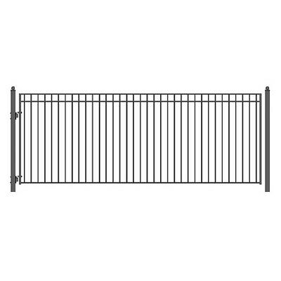 ALEKO MADRID Style Single Swing Steel Driveway Gate 18'