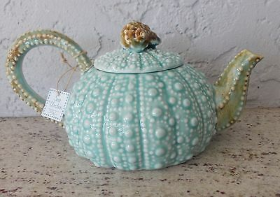 New With Tag Blue Sky Turquoise Blue Sea Beach Urchin Teapot