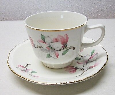 Homer Laughlin       Dogwood    4 Cup & Saucers     Liberty Shape