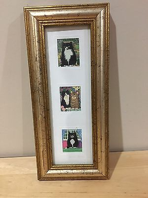 Pier 1 Miniature Picture Of Cats Signed
