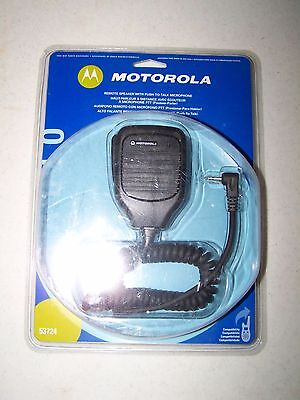 Motorola Talkabout Remote Speaker w/ Push to Talk PTT Mic Microphone Lapel 53724