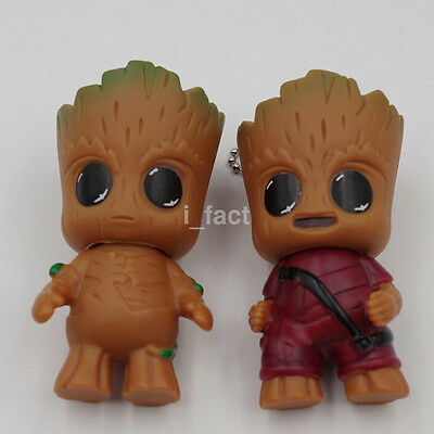 "Hot Sales Guardians of the Galaxy Vol.2 Baby Groot 3"" Key Ring Figure Doll US"