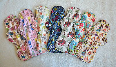 SETS OF 3 & 5 Reusable Bamboo Charcoal Heavy Flow / Maternity Sanitary Cloth Pad