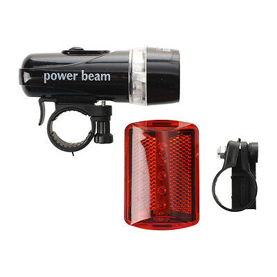 5 LED Front Torch Flashlight + red light bicycle P6F3