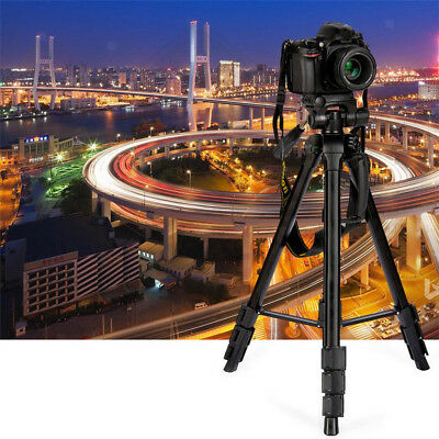 Portable Professional DSLR Camera Travel Tripod with Pan Head w Carrying Bag