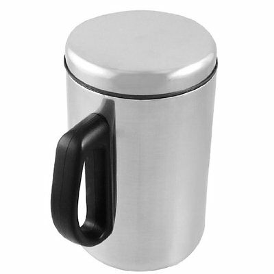 New 500ml Silver Tone Stainless Steel Dr Container Tea Coffee Cup Mug Gift Q3E8