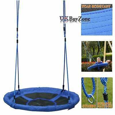 100 cm Giant Padded Fabric Crows Nest Rope Swing Spider Web Outdoor Garden Seat