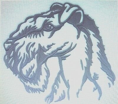 Kerry Blue Terrier Silhouette  Dog Breed Bathroom  HAND TOWEL SET EMBROIDERED