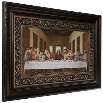 Last Supper Framed Wall Decor By Leonardo Da Vinci Art Piece. JESUS & MARY