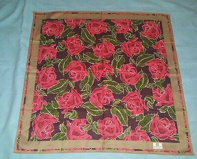 Givenchy 50x50 foulard 100% cotone usato vintage scarf woman square