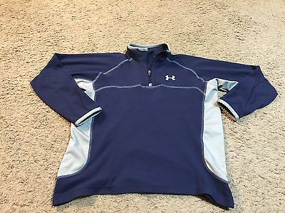 Boys Under Armour Blue 1/4 Zip Fleece Pullover Size Large