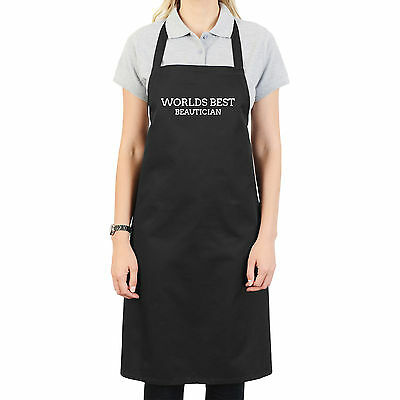 Worlds Best Beautician Personalised Apron Gift Unique