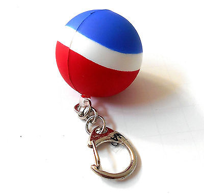 PEPSI COLA Rubber Ball Key Chain THE PEPSI CHALLENGE Pop Soda Fob Ring Keys  NEW