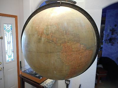 Antique World Hanging Globe Large 18inch Centenal School Supply Denver Colorado