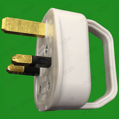 2x 13A UK 3 Pin Mains Plug With Easy Pull Remove Grip Handle, Elderly Disability