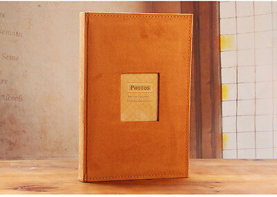 300 Pockets Slip In Suede Leather Photo Album with Memo 6 Inches Photos