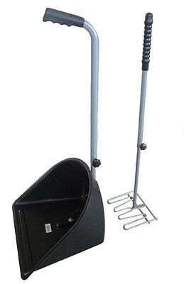 Horse / Dog Manure Rake & Scoop Stable Tool Pooper Scooper with Long Handle
