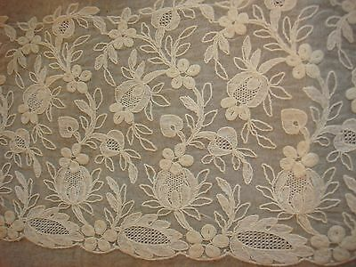 """Lovely Lace Trimmed Edwardian Silk Bed Linens Pillowcase Pillow Sham Mono """"MAD"""""""