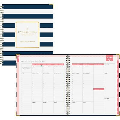 Blue Sky 8x10 Navy Stripe Weekly/Monthly Planner (bls-103625) (bls103625)