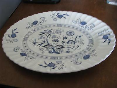 J & G Meakin English Blue Nordic Large Oval Platter 13 3/4""