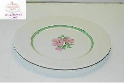 Franciscan Cherokee Rose Green Band Dinner Plate Plates
