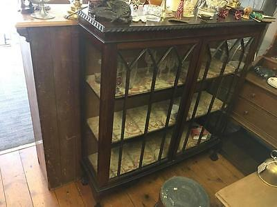 Old Charm Large Glazed Victorian/Edwardian Display Cabinet