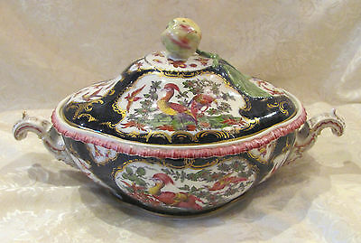 Antique English Worcester Covered Tureen Circa 1800