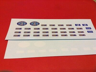 ST. LOUIS Missouri POLICE 1/24 - 1/25 scale police decals - OLD STYLE