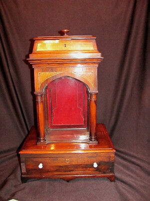 Antique English Georgian Rosewood Reliquary  Circa 1800