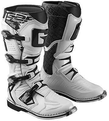 Gaerne G-React Leather Motocross MX Riding Boots - 2016/17 [White, Size 10]