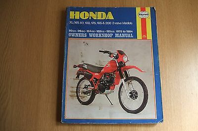 honda xl xr 80 100 125 185 200 haynes owners workshop. Black Bedroom Furniture Sets. Home Design Ideas