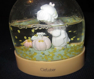Vintage 1980's Enesco Precious Moments Water Ball Snow Globe -October