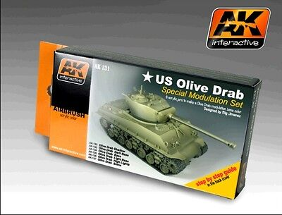 Ak Interactive AKI 131- Color Modulation Set- Olive Drab