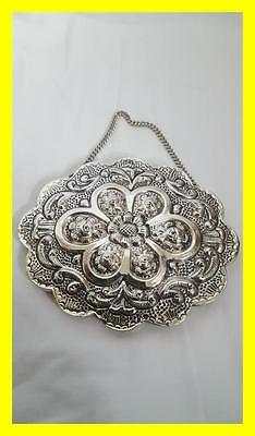 Turkish 900 Grade Silver Bedo Wall Hanging Mirror,excellent Condition