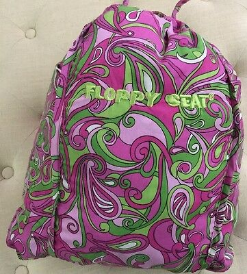 Floppy Seat - Shopping Cart Cover - Pink/green Paisley Print - Gently Loved