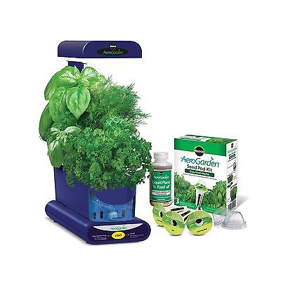 Miracle-Gro AeroGarden Sprout with Gourmet Herb Seed Pod Kit Blue