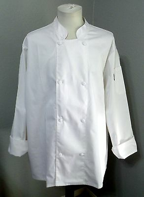 LOT OF 2 NEWCHEF LONG-SLEEVE CHEF COATS XL/2XL WHITE Very Good!!