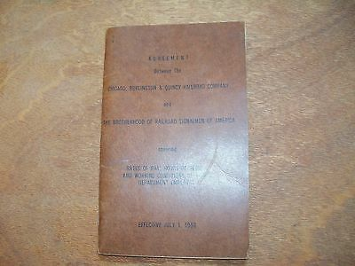Agreement Between the Chicago, Burlington, & Quincy and the Railroad Signalmen